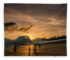 Morning On The Ramp Fleece Blanket