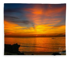 Morning On The Water Fleece Blanket