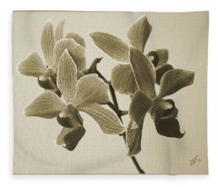 Morning Orchid Fleece Blanket