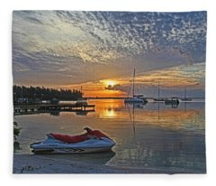 Morning Peace - Florida Sunrise Fleece Blanket