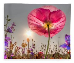 Morning Pink Fleece Blanket