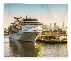 Morning Port Fleece Blanket