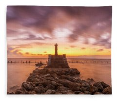 Morning Scene In Nusa Penida Beach Fleece Blanket