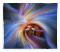 Morning Star. Mystery Of Colors Fleece Blanket