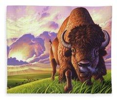Morning Thunder Fleece Blanket