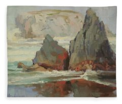 Morning Tide Fleece Blanket