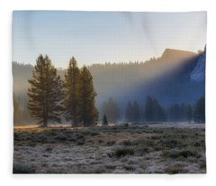 Morning Tuolomne  Fleece Blanket