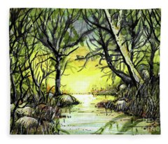 Morning Waters Fleece Blanket