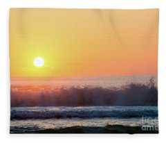 Morning Waves Fleece Blanket
