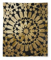 Moroccan Gold Iv Fleece Blanket