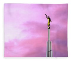 Moroni At Dawn Fleece Blanket