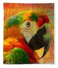 Mosaic Macaw 2016 Fleece Blanket