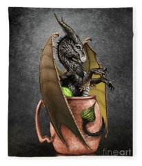 Moscow Mule Dragon Fleece Blanket
