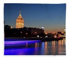 Moscow River Fleece Blanket