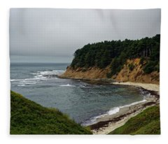 Moss Beach Fleece Blanket