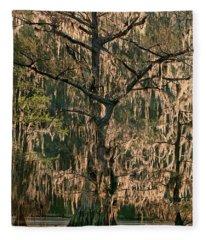 Moss Draped Cypress Caddo Lake Texa Fleece Blanket