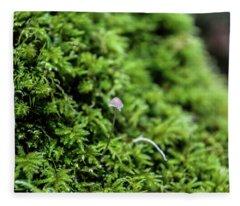 Moss Mushroom Fleece Blanket
