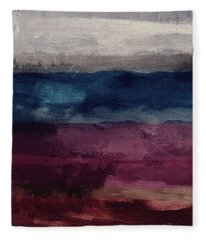 Most Of All- Abstract Art By Linda Woods Fleece Blanket