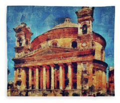 Mosta Church Fleece Blanket