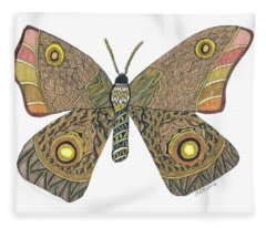 Moth Fleece Blanket