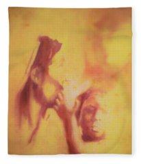 Mother And Child Fleece Blanket