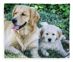 Mother And Pup Fleece Blanket