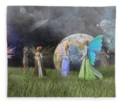 Mother Earth Series Plate1 Fleece Blanket