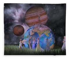 Mother Earth Series Plate2 Fleece Blanket