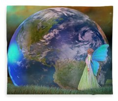 Mother Earth Series Plate3 Fleece Blanket