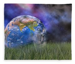 Mother Earth Series Plate4 Fleece Blanket
