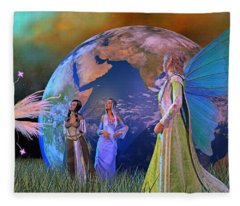 Mother Earth Series Plate5 Fleece Blanket