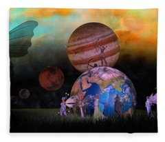 Mother Earth Series Plate6 Fleece Blanket
