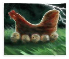 Mother Hen Fleece Blanket