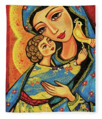 Mother Temple Fleece Blanket