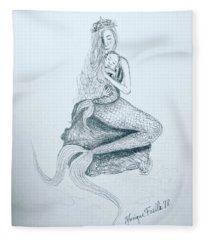 Motherhood Mermaid Fleece Blanket