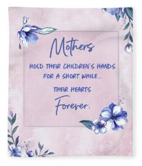 Mothers And Their Children Fleece Blanket