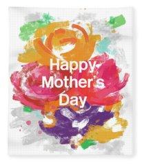 Mother's Day Roses- Art By Linda Woods Fleece Blanket