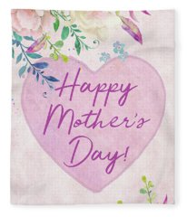 Mother's Day Wishes Fleece Blanket