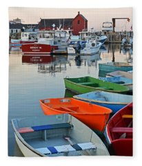 Motif #1 Rockport Ma Fleece Blanket