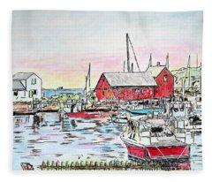 Motif #1 Rockport, Massachusetts Fleece Blanket