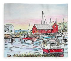Motif #1 Rockport, Massachusetts Fleece Blanket
