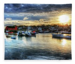 Motif #1 Sunrise Rockport Ma Fleece Blanket