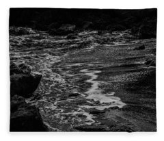 Motion In Black And White Fleece Blanket