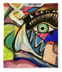 Motley Eye 3 Fleece Blanket