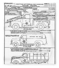 Motor Vehicles Fleece Blanket