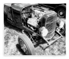 Motor Wheel Bw Fleece Blanket