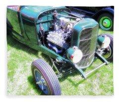 Motor Wheel Fleece Blanket