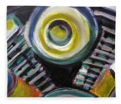 Motorcycle Abstract Engine 2 Fleece Blanket