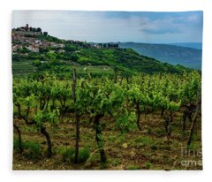 Motovun And Vineyards - Istrian Hill Town, Croatia Fleece Blanket