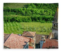 Motovun Istrian Hill Town - A View From The Ramparts, Istria, Croatia Fleece Blanket